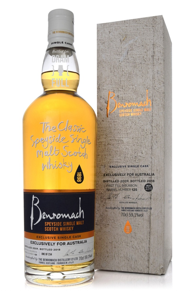 Benromach Single Cask Exclusive for Australia 2009 59.1% 700ml bottle